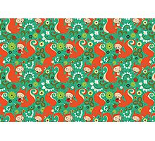 Nutty Squirrel Pattern  Photographic Print