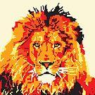 Pixel Art Red Lion by Melisa Fales