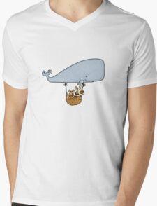 Whale Balloon Doggies Mens V-Neck T-Shirt