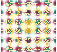Pixel Mandala - Circle Ethnic Ornament by magicmandala
