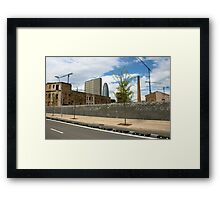 Constuction a new city Framed Print