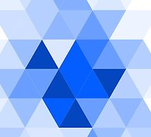 Misty blue triangles by HelgaScand