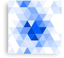 Misty blue triangles Canvas Print
