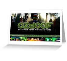 ozdoof business card Greeting Card