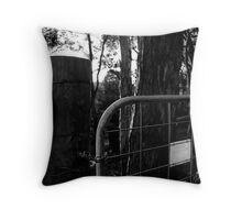 Black Gate Throw Pillow