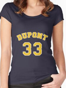 Jason Williams 33 Dupont High School Panthers Basketball  Women's Fitted Scoop T-Shirt