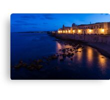Syracuse, Sicily Blue Hour - Ortygia Evening Mood Canvas Print