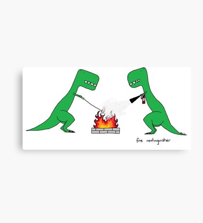 fire rextinguisher Canvas Print
