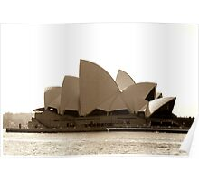 Sydney Opera House in sepia  Poster