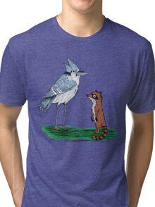 Mordecai and Rigby Tri-blend T-Shirt
