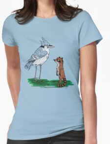 Mordecai and Rigby Womens Fitted T-Shirt