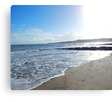 Winter Sunshine on Swanage Bay Canvas Print
