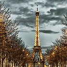 Sunset in Paris by Kevin Hayden