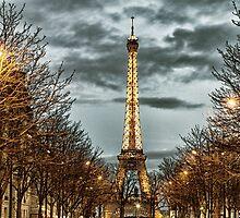 Sunset in Paris by Kevin Hayden