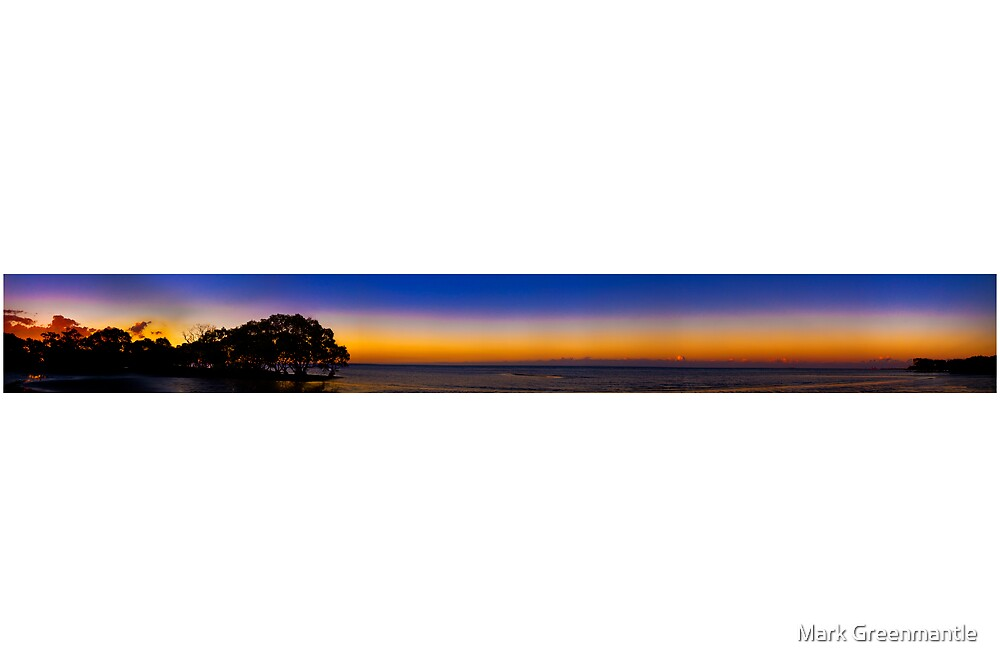 Pano Nudgee Beach by Mark Greenmantle