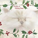 "Cat ""Dreams of Holiday Cheer"" ~ Greeting Card by Susan Werby"