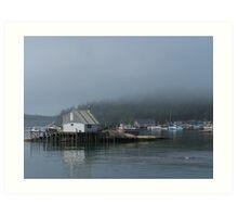 A Foggy Morning in Stonington Harbor Art Print