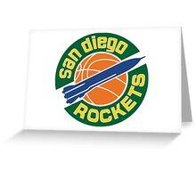 San Diego Rockets Greeting Card
