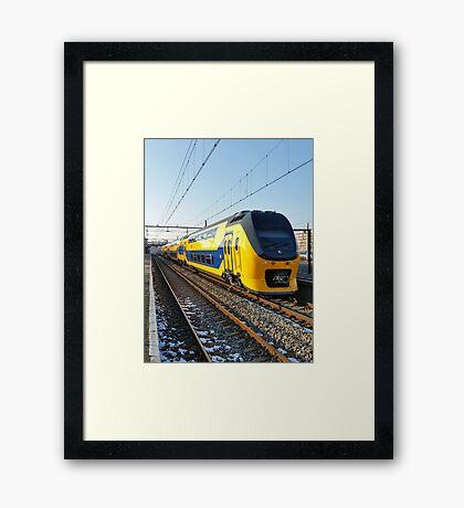Renovated VIRM on Hoorn Station Framed Print