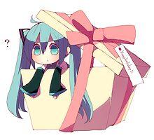 Present Miku! by nikoman844