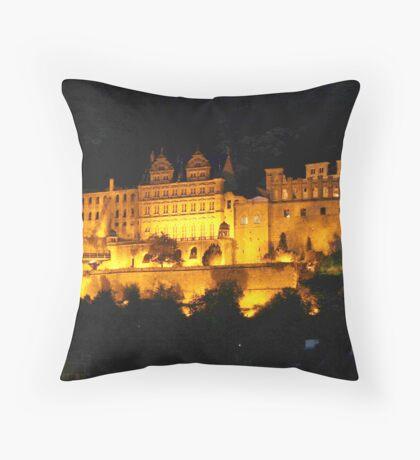 Heidelberg castle at night Throw Pillow