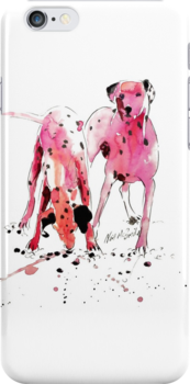 Pink Dalmations by Neil McBride by Neil McBride