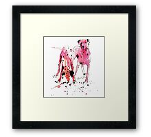 Pink Dalmations by Neil McBride Framed Print