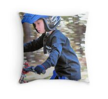 Youth Moves Fast Throw Pillow
