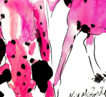 Pink Dalmations by Neil McBride Sticker