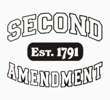 Second Amendment 2nd Gun Right Est 1791 Shirt Sticker Cases Pillows Totes Duvet by 8675309