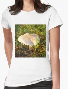 White Toadstool 3 Womens Fitted T-Shirt