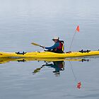 yellow kayak by Judy Harland