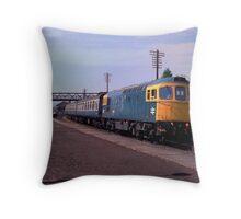British Rail Class 33 Diesel at Ludlow, c. 1983 Throw Pillow