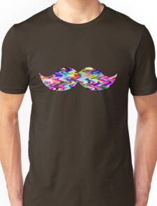 Funny colorful mustache Unisex T-Shirt