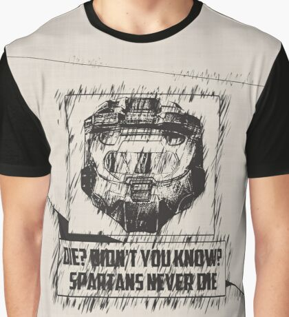 Spartans Never Die Graphic T-Shirt