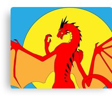 Annoth the Warrior Dragon Canvas Print