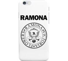 Ramona - Black iPhone Case/Skin