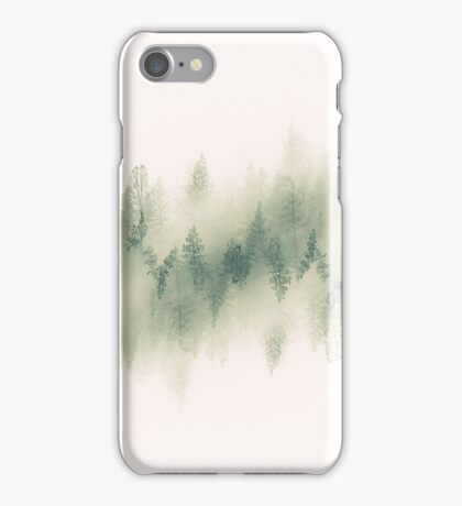 White Surreal Forest iPhone Case/Skin