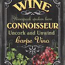 Wine Cellar Sign 2 by Debbie DeWitt