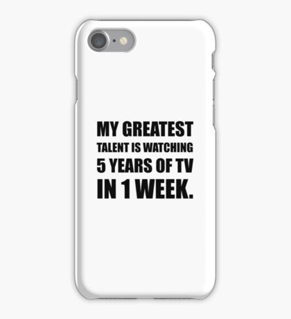 Talent Watching Television iPhone Case/Skin