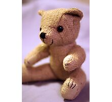Baby Teddy Pink Photographic Print