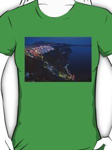 Night falling over the Caldera of Santorini T-Shirt