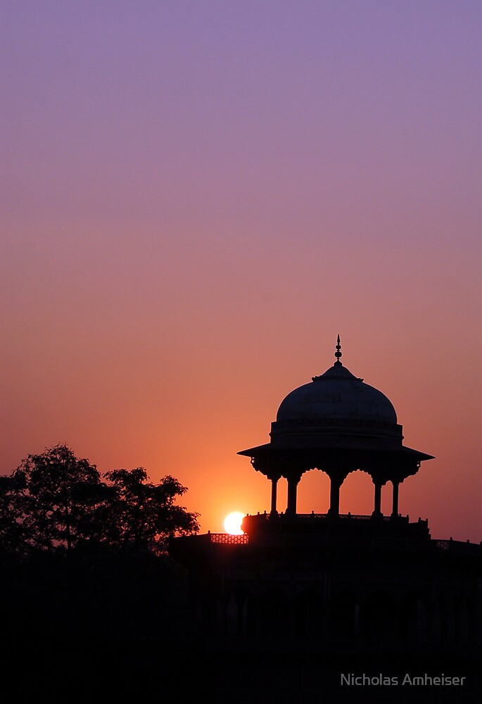 sunset at agra by Nicholas Amheiser