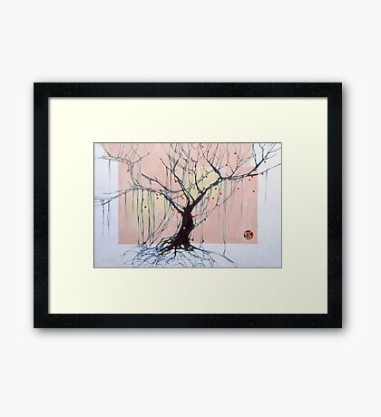 Withered tree Framed Print