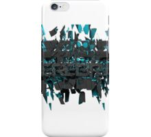 Cerebral cracked text art iPhone Case/Skin