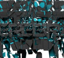 Cerebral cracked text art Sticker