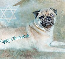 """Pug """"Happy Chanukah"""" ~ Greeting Cards Plus More! by Susan Werby"""