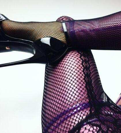 Miss Beyla Hughes Latex Leder PVC Model Cosplay  Sticker