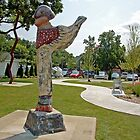 The Winged Guardian - Sculpture Park of Brighton, MI. by Diane  Kramer