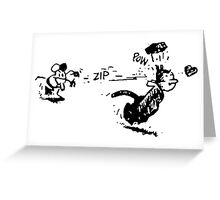 Krazy Kat and Ignatz Greeting Card